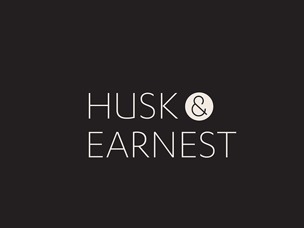 HUSK &  EARNEST - Coconut Oil Packaging Design