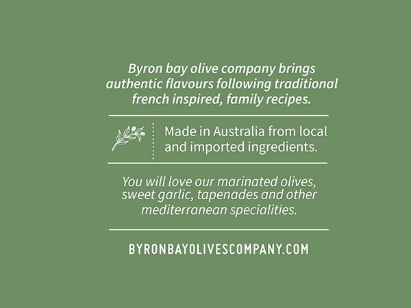 BYRON BAY OLIVES - Olive Packaging Design